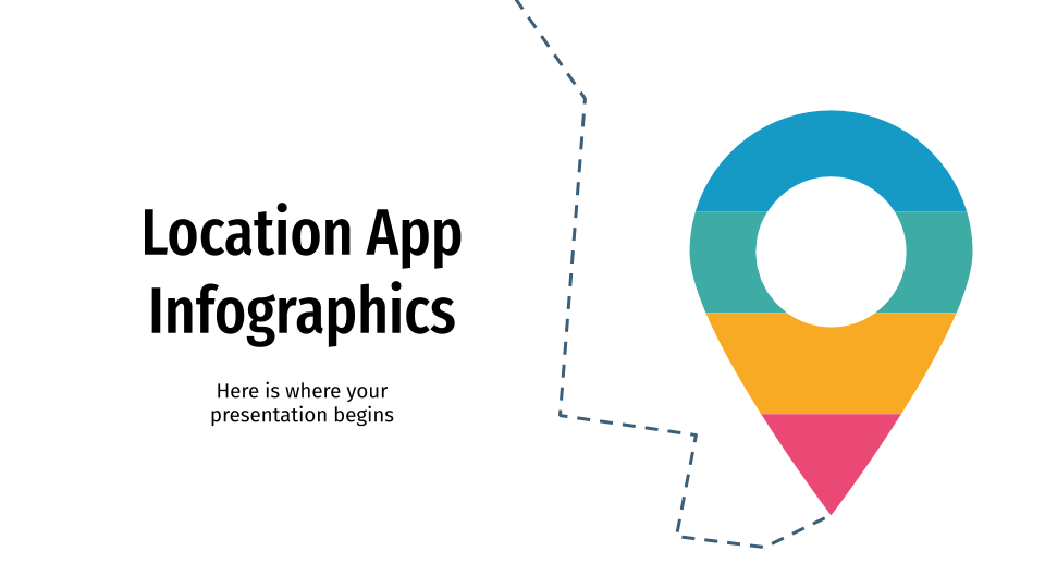 Location App Infographics presentation template