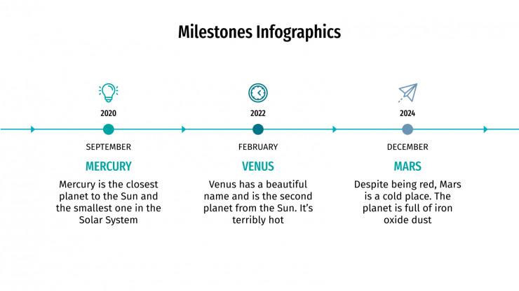 Milestones Infographics presentation template