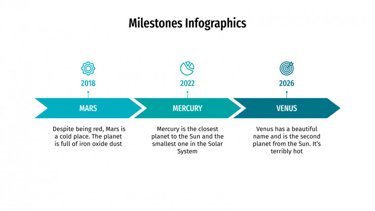 Modelo de apresentação Infográficos de etapas