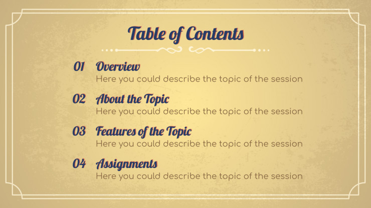 Ancient History Lesson presentation template