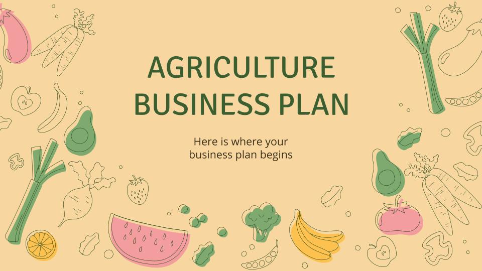 Plantilla de presentación Plan para negocios agrícolas