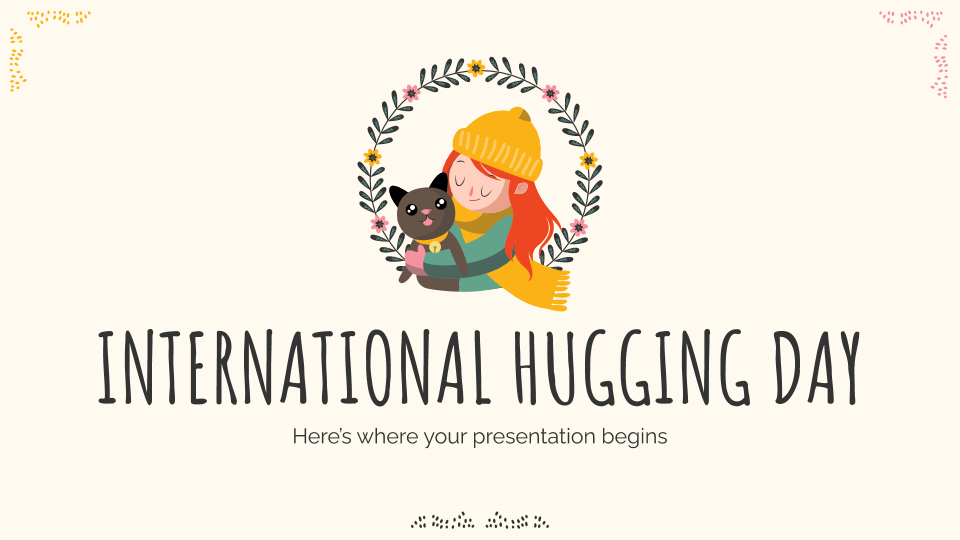 International Hugging Day presentation template