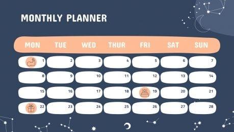 February Daily Slides presentation template