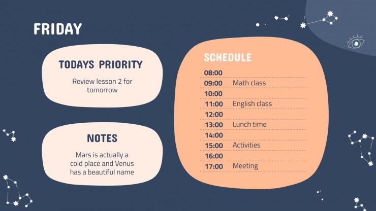 Plantilla de presentación Agenda para febrero