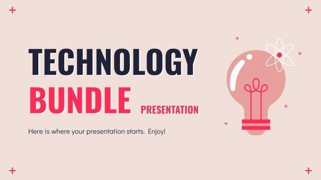 Modelo de apresentação Pacote de tecnologia