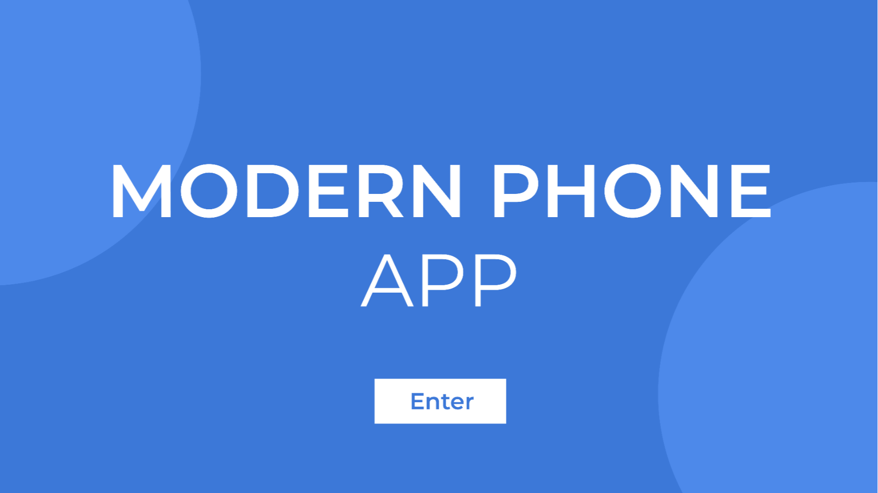 Modern Phone App presentation template