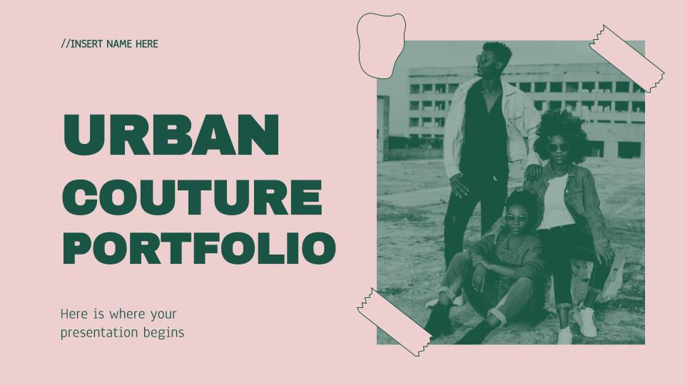 Modelo de apresentação Portfólio de moda urbana