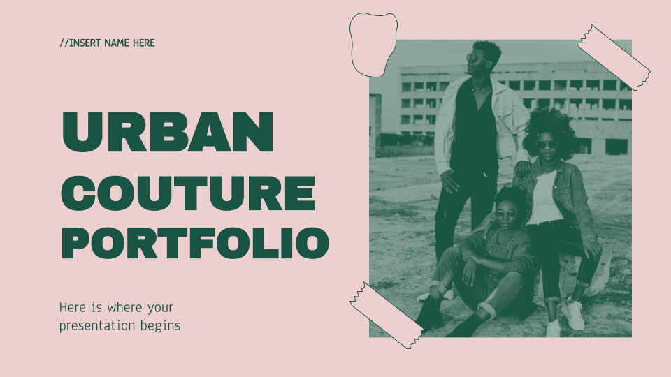 Urbane Kultur Portfolio Präsentationsvorlage