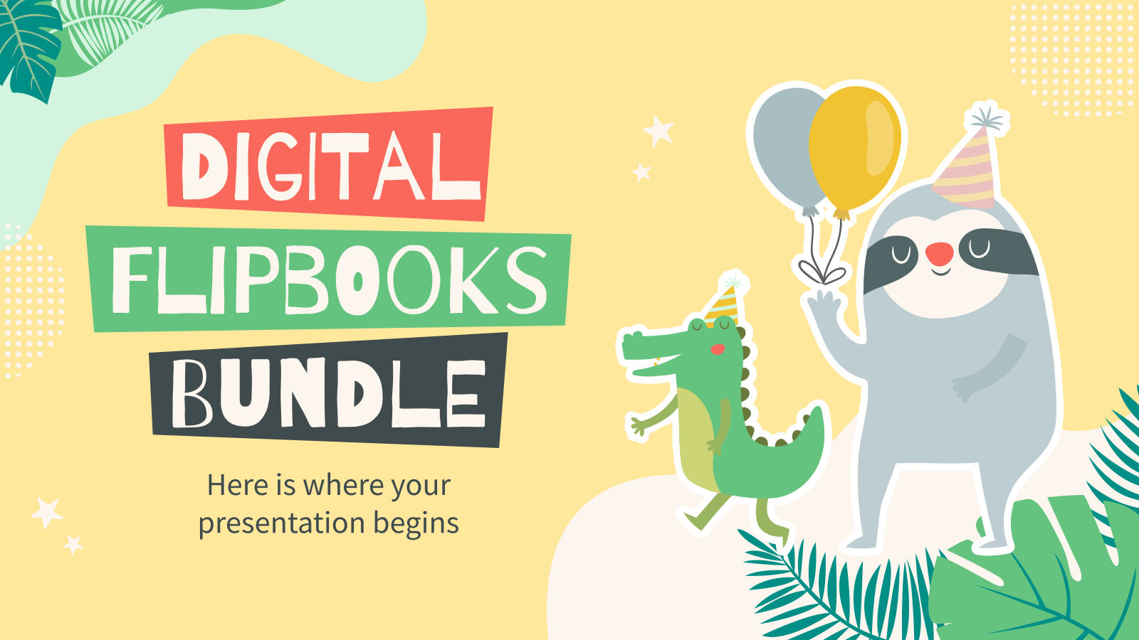 Digital Flipbooks Bundle presentation template