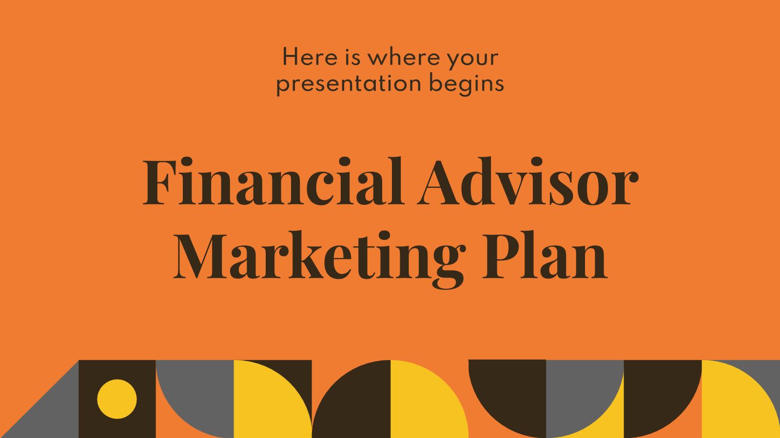 Plantilla de presentación Marketing para asesores financieros