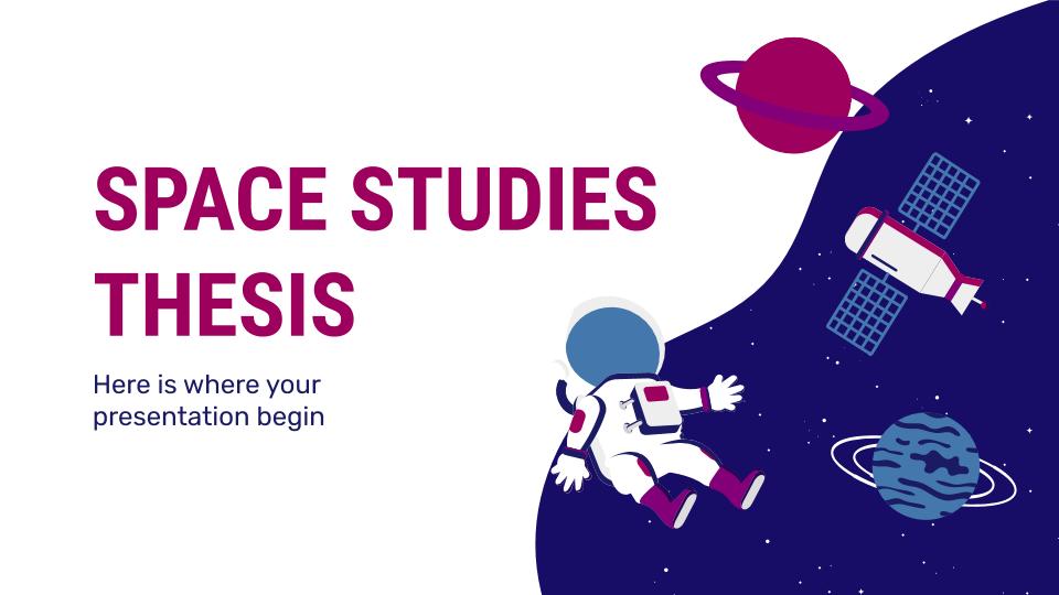 Plantilla de presentación Tesis sobre ciencias espaciales