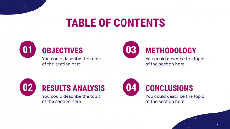 Space Studies Thesis presentation template