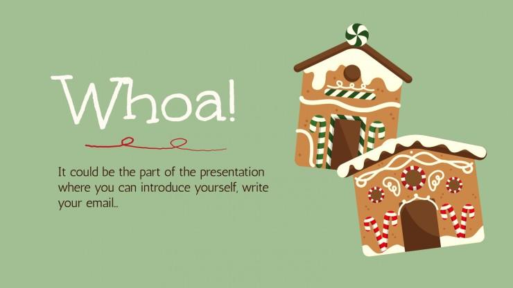 Recette de Noël : Modèles de présentation