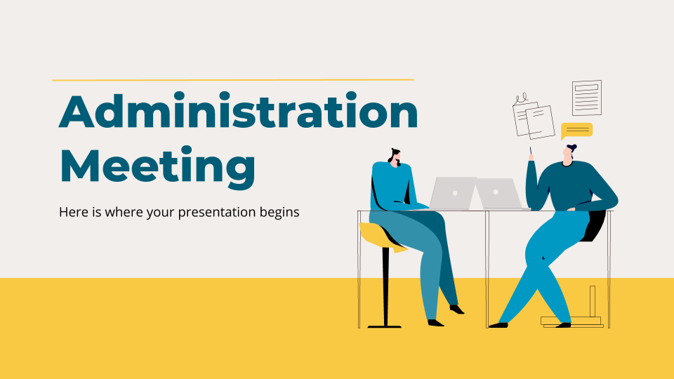 Administration Meeting presentation template