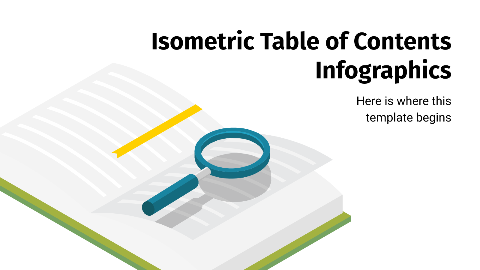 Isometric Table of Contents Infographics presentation template