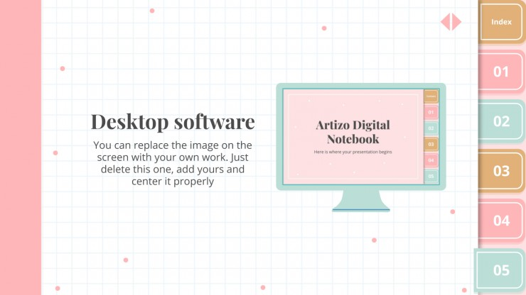 Artizo Digital Notebook presentation template