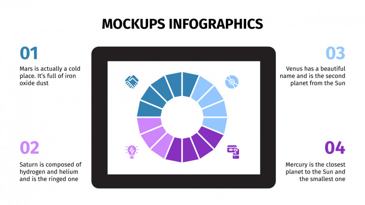 Plantilla de presentación Infografías de mockups