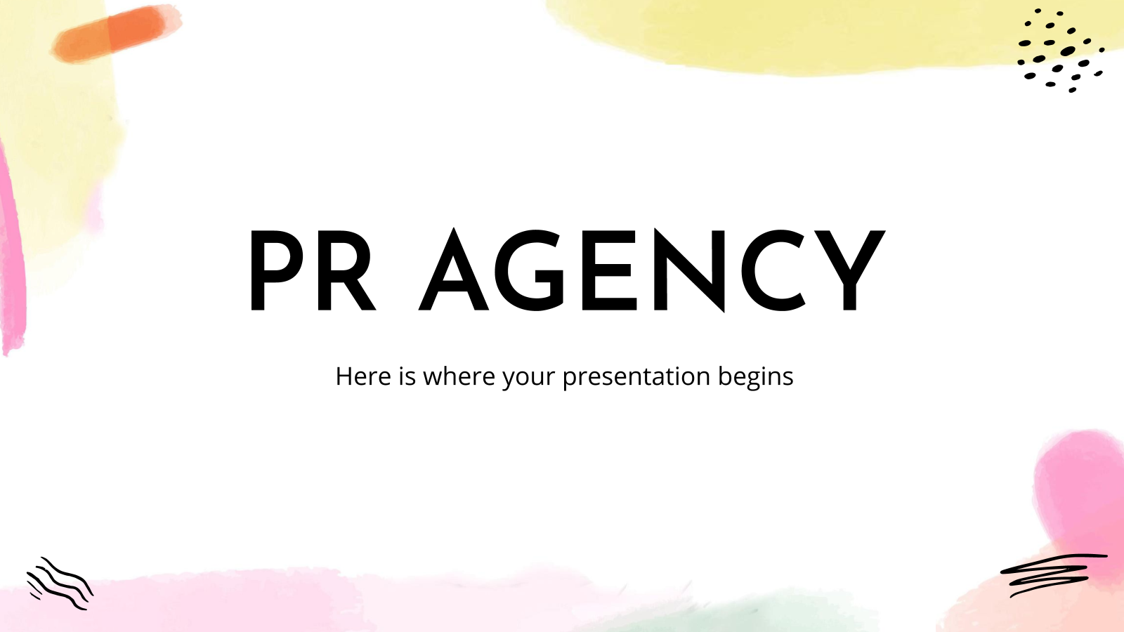 PR Agency presentation template