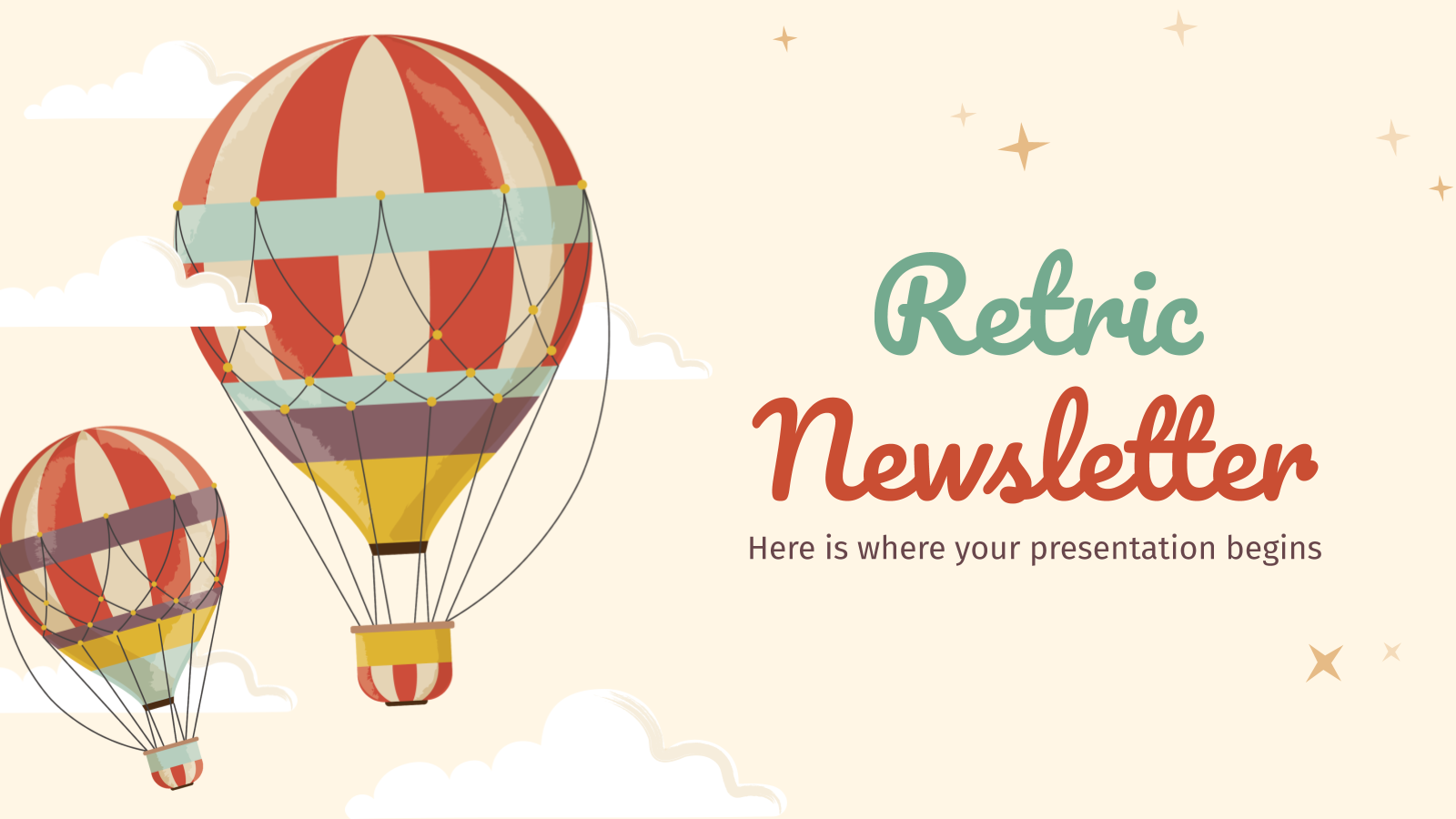 Plantilla de presentación Newsletter Retric