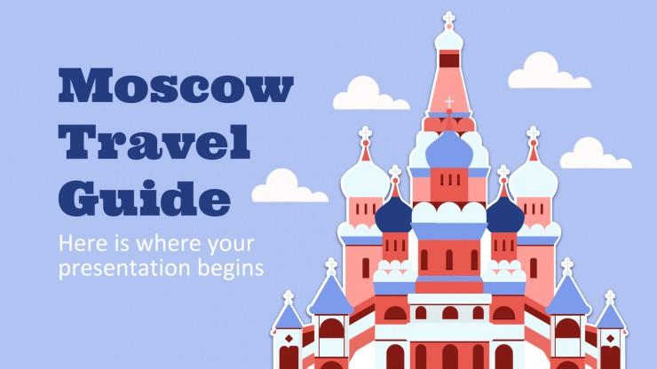 Modelo de apresentação Guia de viagem: Moscou