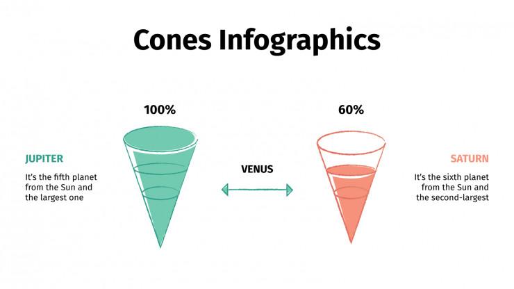 Plantilla de presentación Infografías cónicas