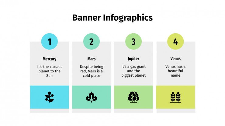 Modelo de apresentação Infográficos de faixas