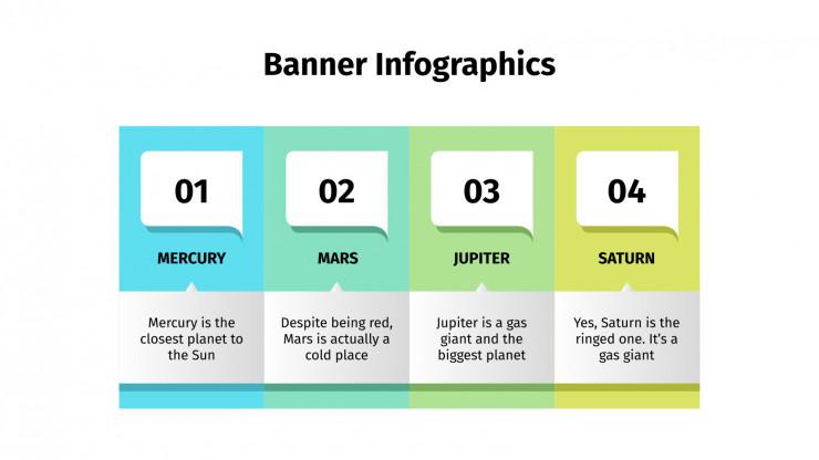 Plantilla de presentación Infografías tipo banderola
