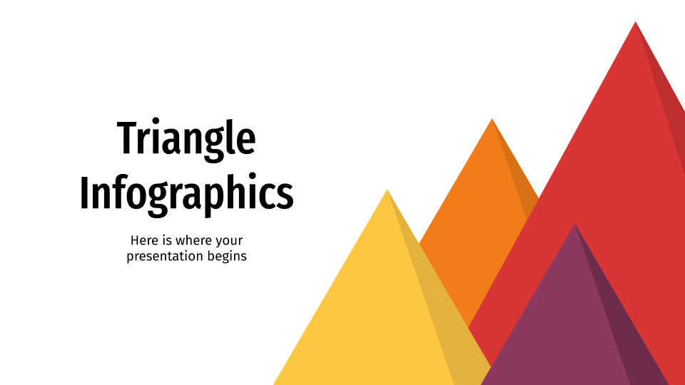 Triangle Infographics presentation template