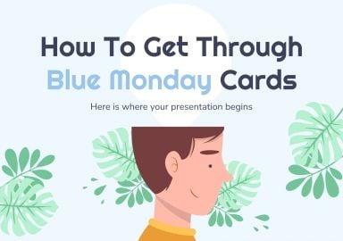 Modelo de apresentação Cartões para o Blue Monday