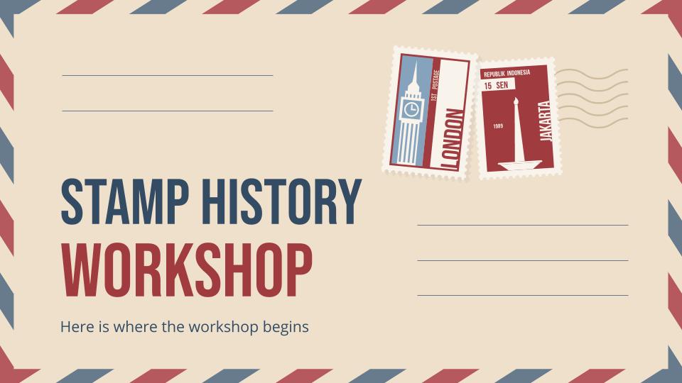 Atelier sur l'histoire des timbres : Modèles de présentation