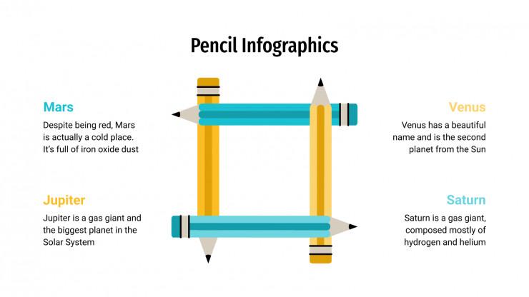 Pencil Infographics presentation template