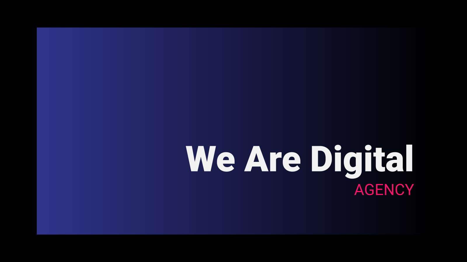 We Are Digital presentation template