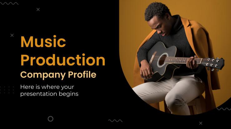 Modelo de apresentação Perfil de produtora musical