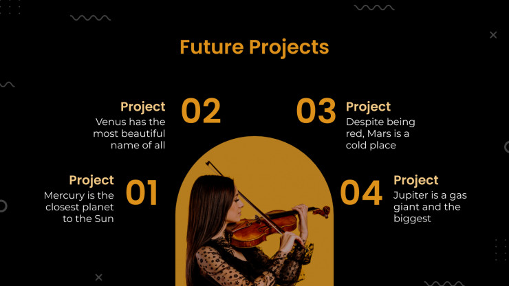 Plantilla de presentación Productora musical