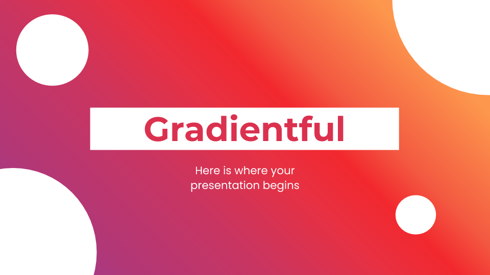 Gradientful presentation template