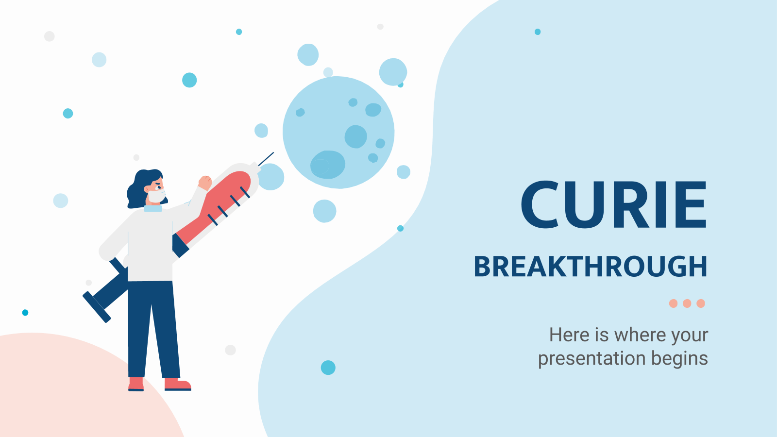 Curie Breakthrough presentation template