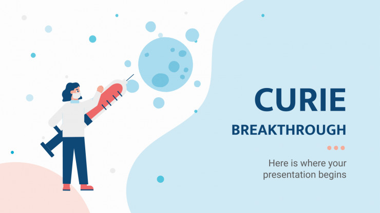Curie Breakthrough presentation template