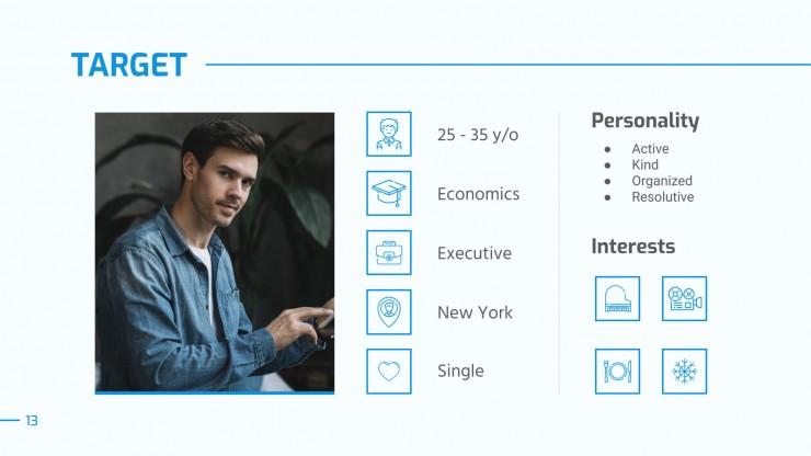 Modelo de apresentação Consultoria corporativa Blue