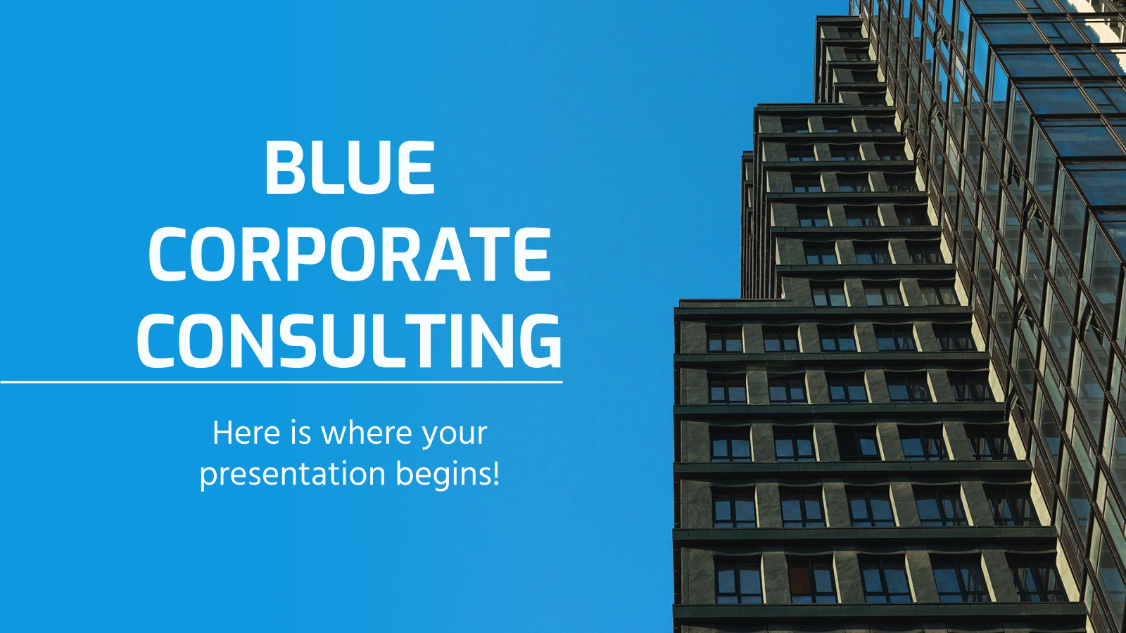 Blue Corporate Consulting presentation template