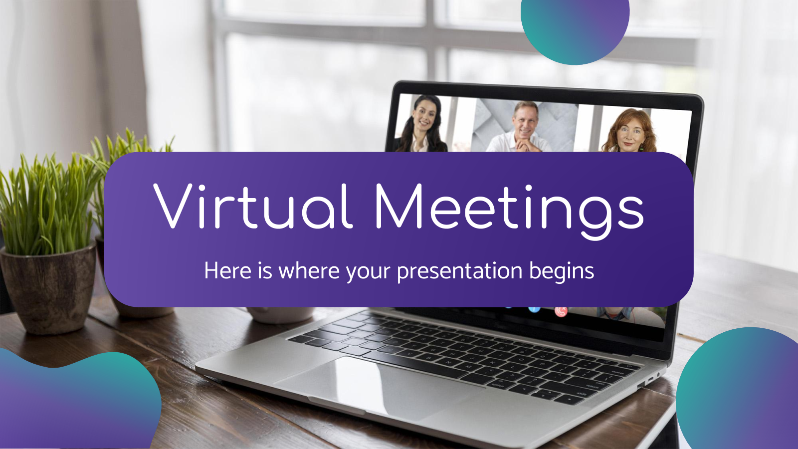 Virtual Meetings presentation template