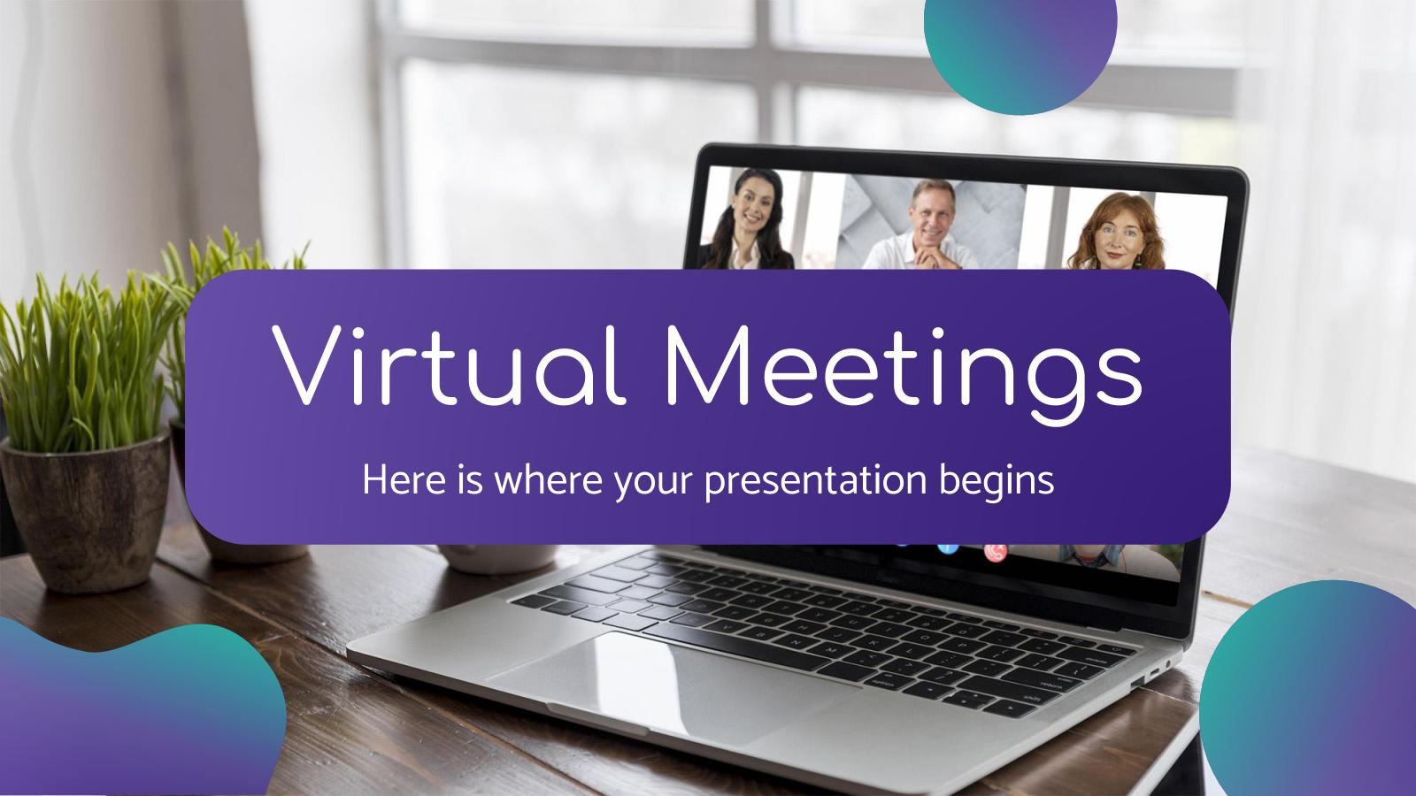 Modelo de apresentação Reuniões virtuais