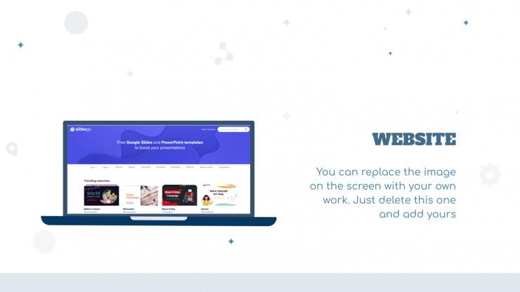 Plantilla de presentación Diapositivas sobre teletrabajo