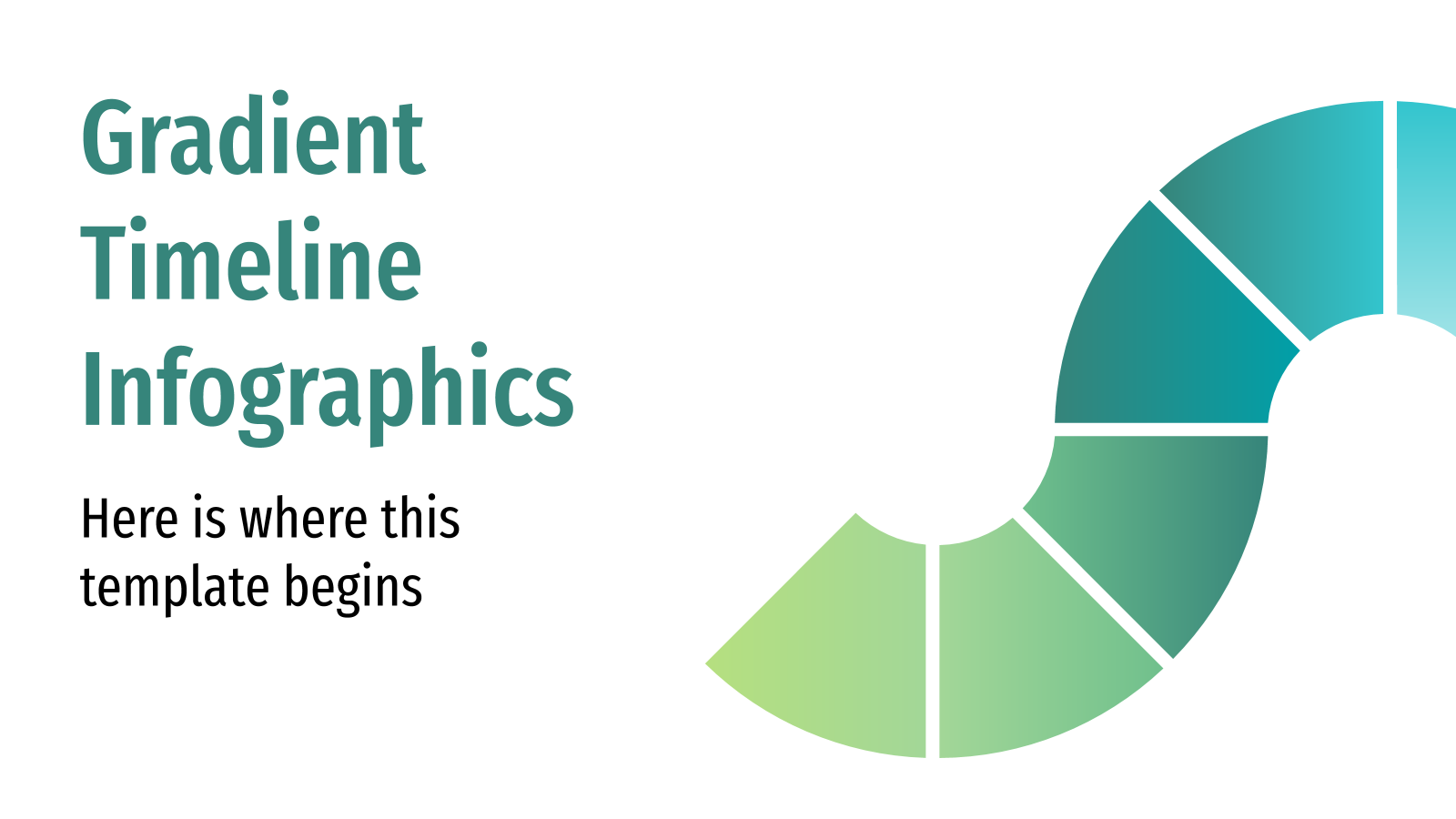 Gradient Timeline Infographics presentation template
