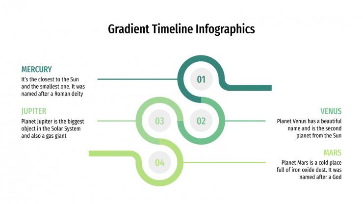 Plantilla de presentación Timelines con degradados