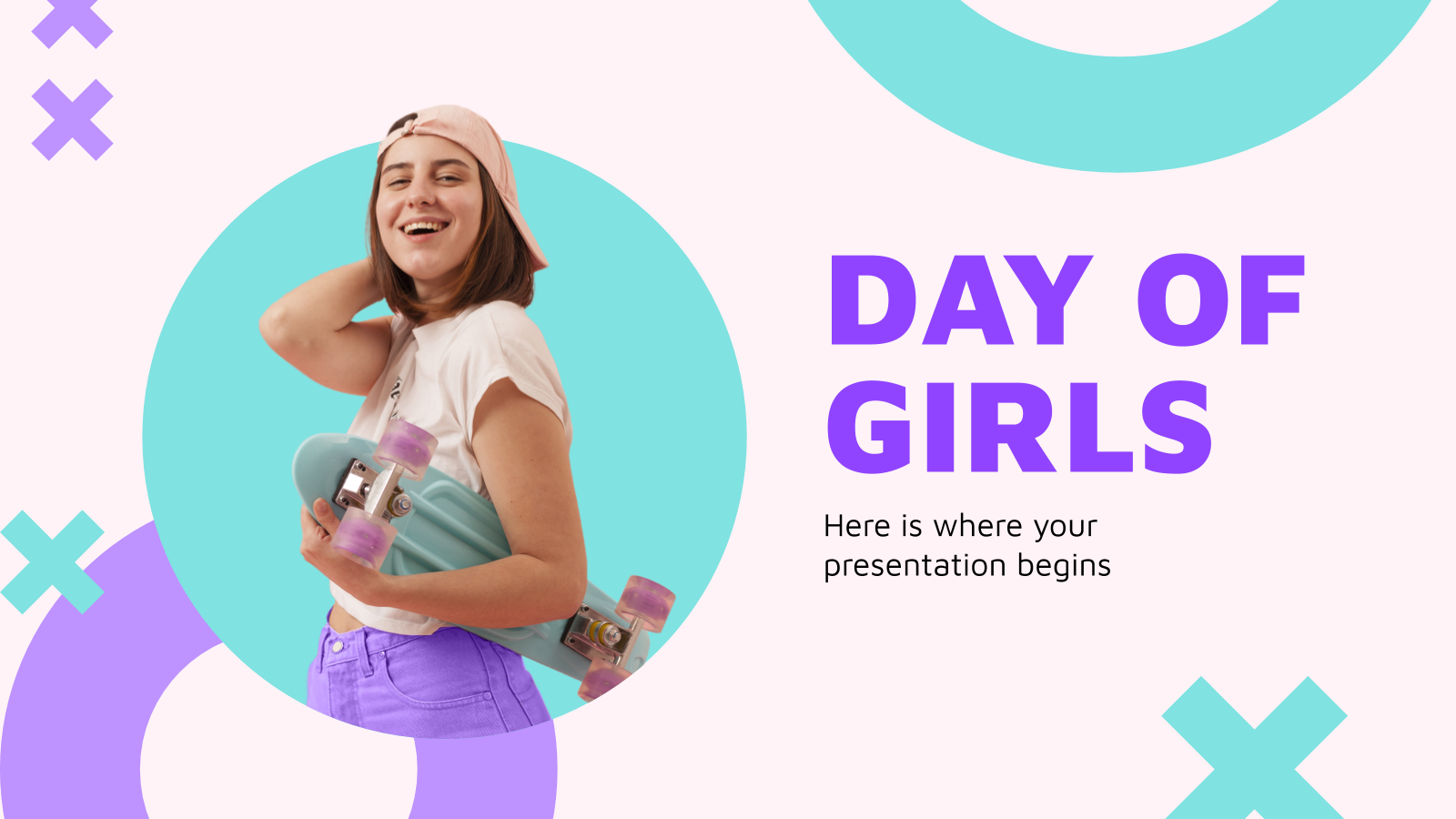 Day of Girls Social Media presentation template