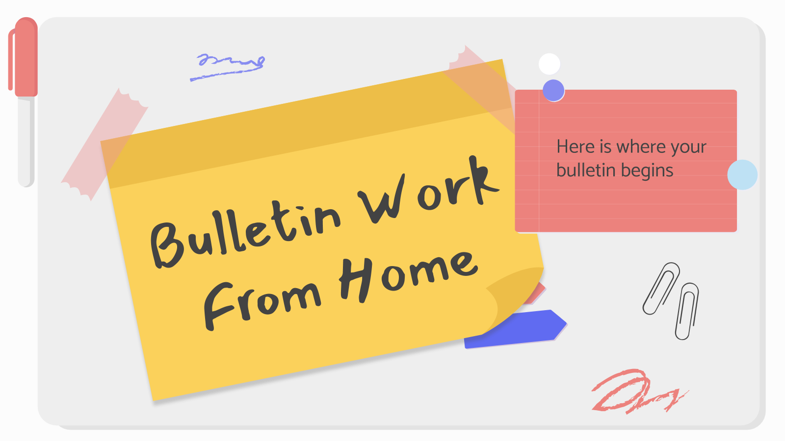 Bulletin Work from Home presentation template
