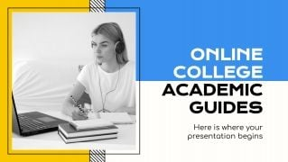 Online College Academic Guides presentation template