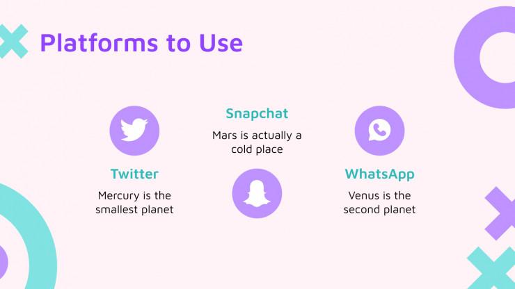 Modelo de apresentação Mídia social para o Dia das Meninas