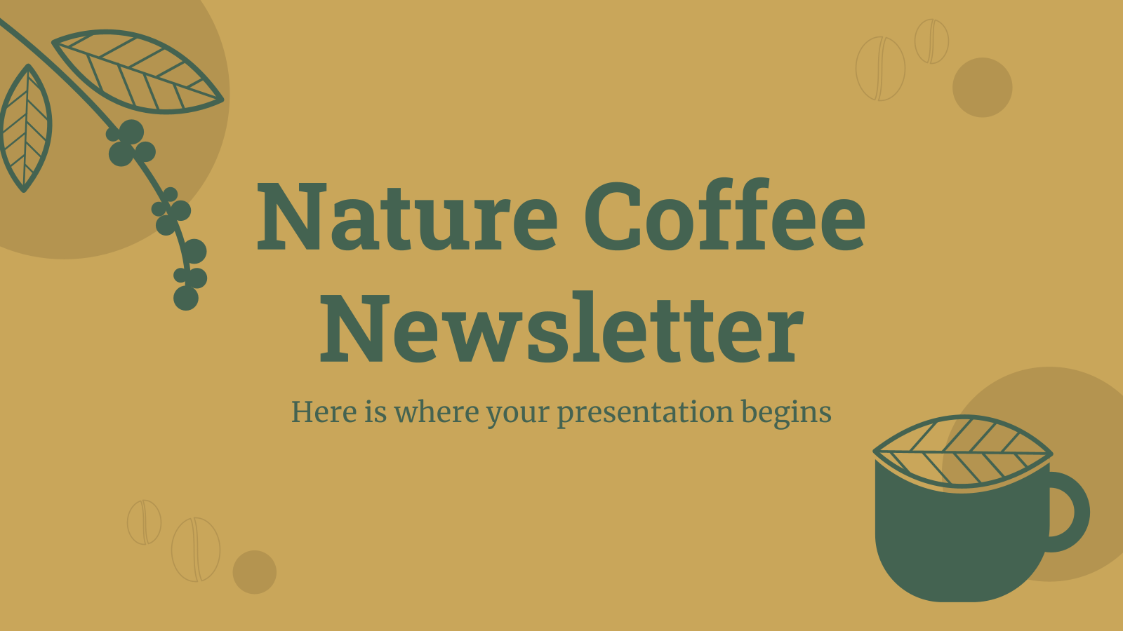 Modelo de apresentação Newsletter Café natural