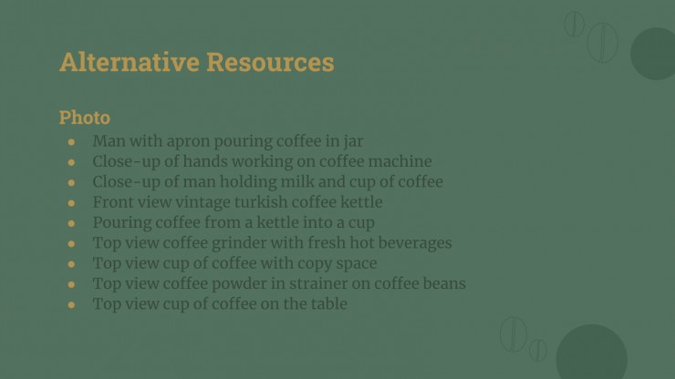 Nature Coffee Newsletter presentation template